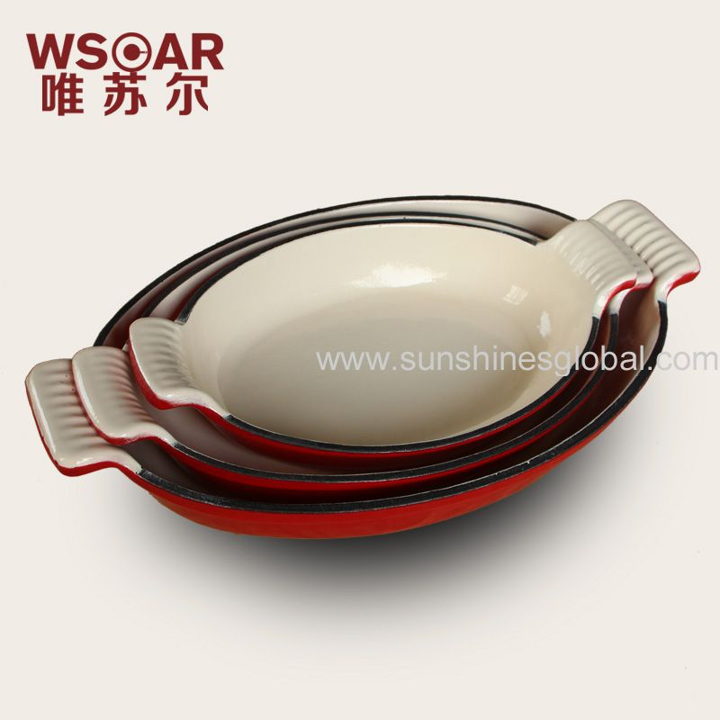 enameled  fish pan 3 in one